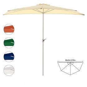halbrunder Schirm für Balkon & kleine Flächen