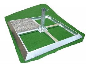 Plattenschirmstaender Gras